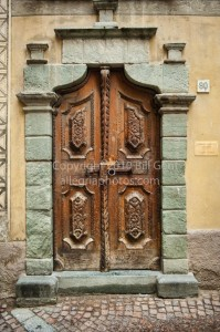 An ancient door in Bormio, Italy