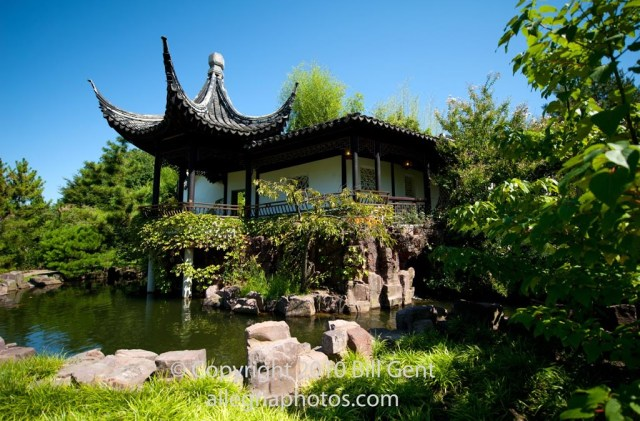 The pagoda at the Chinese Scholar's Garden, Staten Island