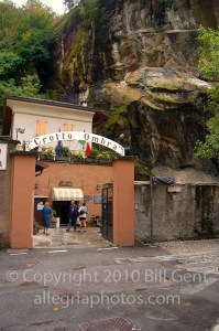 Entrance to the Crotto Ombra Restaurant, Italy