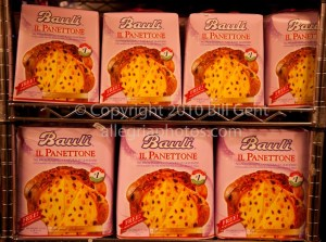 Boxes of Panettone at Christmas