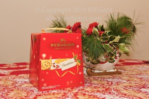 A box of panettone at Christmas