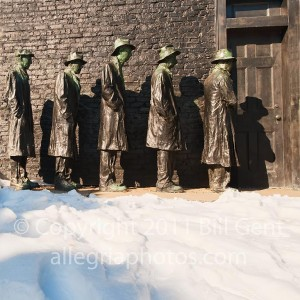 """""""Depressed Bread Line"""" by George Segal, Grounds for Sculpture"""