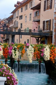 The flower festooned streets of Annecy, France