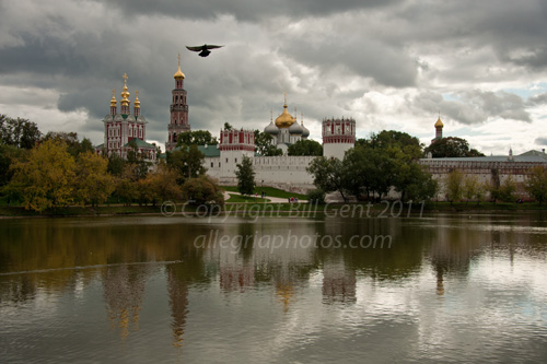 A view across the lake to Novodevichy Convent