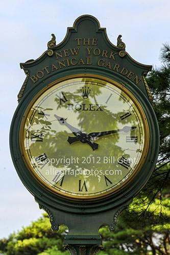 Clock in New York Botanical Gardens,