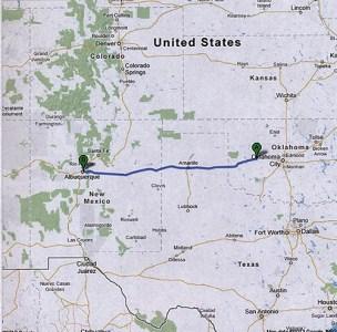 Weatherford to Albuquerque