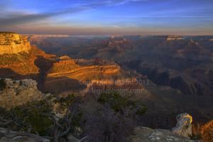 Grand Canyon at sunrise from Yavapai Point
