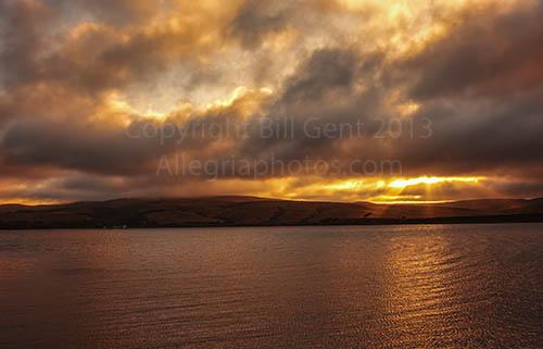 Sunrise Across Tomales Bay, Point Reyes