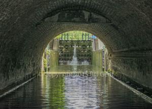 The tunnel on Canal de St. Martin, Paris