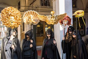 Masks made by Bottega dei Mascareri