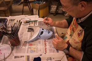 Mask painting workshop, Ca' Macana, Venice