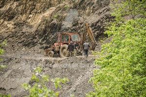 Landslide on the Tusheti road