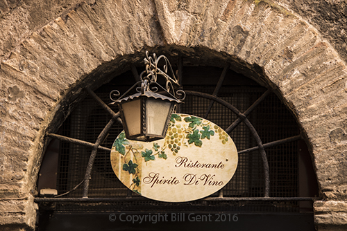 Side Entrance to the Spirito Di Vino restaurant