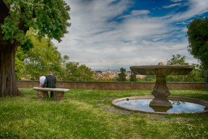 Vista over Rome from the Gianicolo