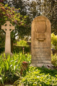 John Keats is buried in the Protestant Cemetery, Rome