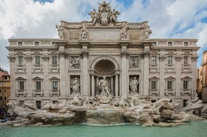 Recently renovated Fountain of Trevi, Rome
