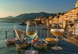 An aperitivo at sunset, Camogli