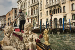 Costumers on the Grand Canal near Palazzo Gritti
