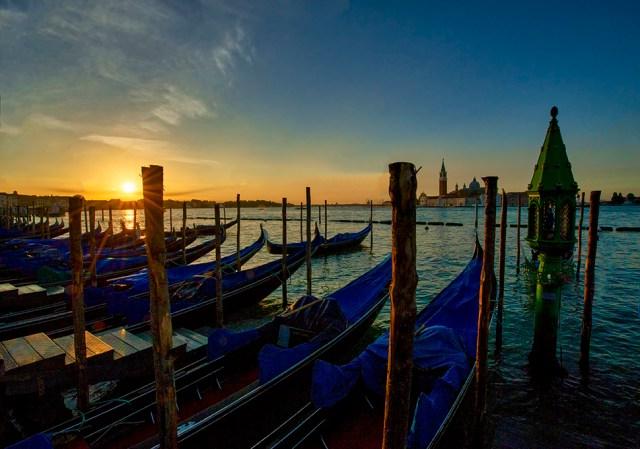 Sunrise over the Venetian Lagoon