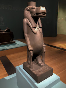 Statue of a hippo at exhibition of Egypt's Sunken Cities, St. Louis Museum of Art