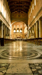 Nave of the Basilica of St. Lawrence Outside the Walls, Rome