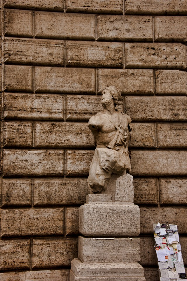 One of Rome's talking statues, Il Pasquino
