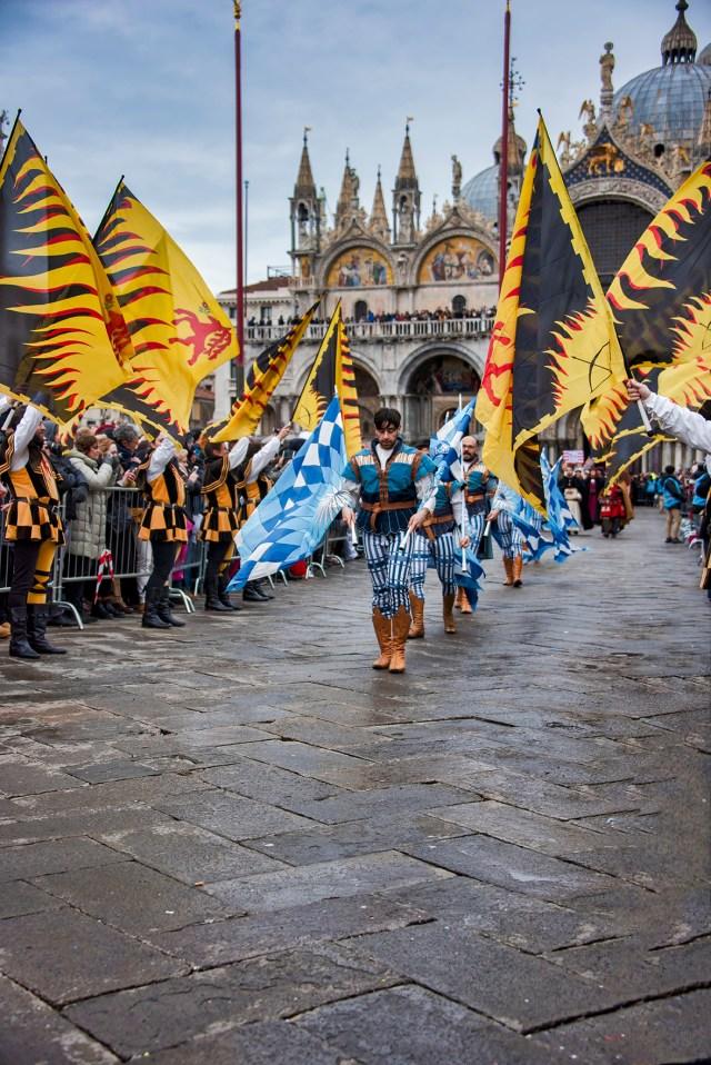 Costumed Venetians on St. Mark's Square, ©BillGent
