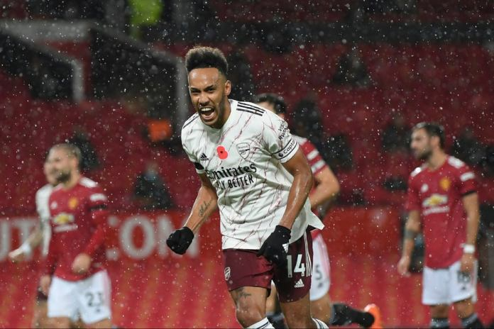 Aubameyang scored from the spot to give 1-0 win to Arsenal against Manchester United