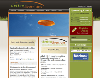 Active Diversions Website 2009