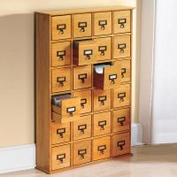 Library Style CD Storage Cabinet with 24 Drawers