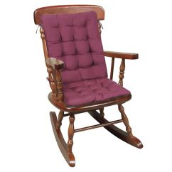 2 Pc Rocking Chair Cushions Old Wooden Chairs For Sale Burgundy At Wireless Catalog Ta1782 View Large Image