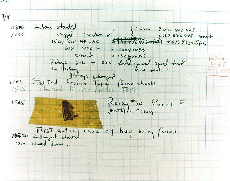 mark II 1947 bug report