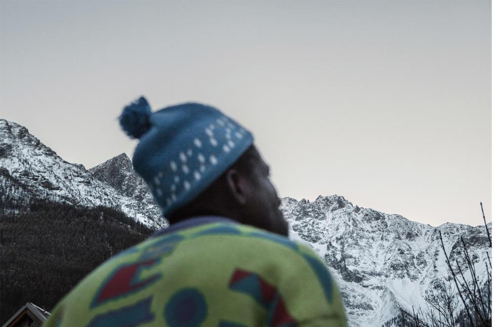I migranti che passano per le Alpi