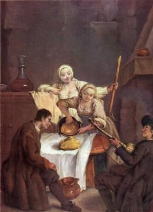 Pietro Longhi, La polenta, 1740 circa.