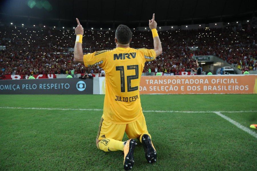Julio Cesar nella sua partita d'addio. Foto: Gilvan de Souza/Flamengo.