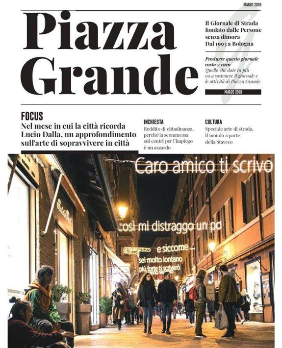 La copertina di marzo del giornale Piazza Grande