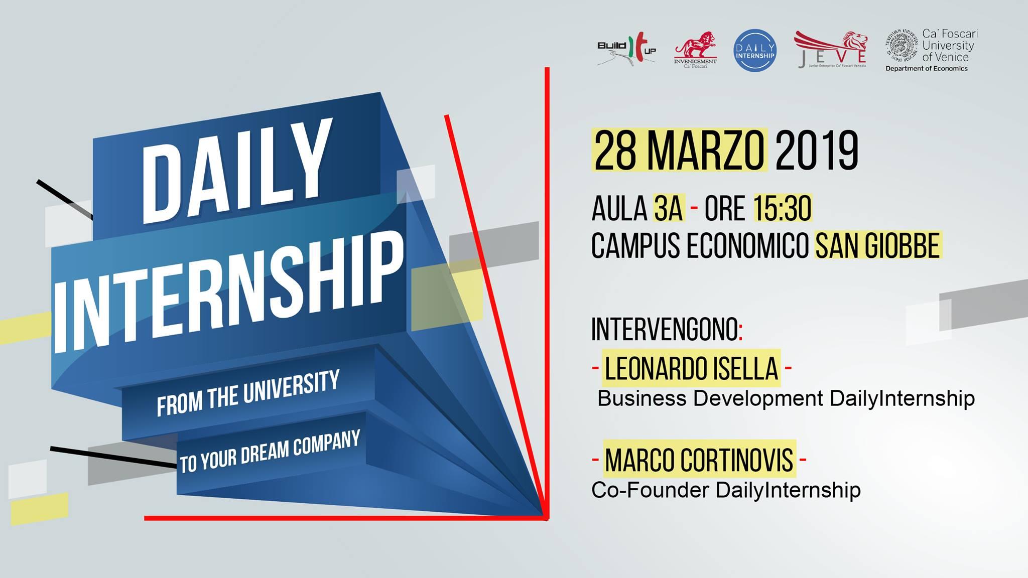 Build It Up e Daily Internship: i giovani dall'università al lavoro