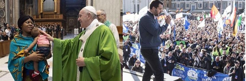Lo scontro tra Salvini e la Chiesa: quando la religione diventa politica