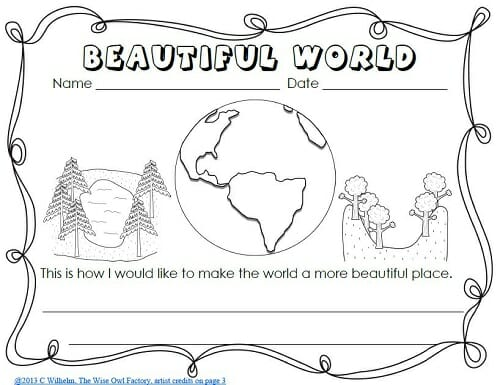 Miss Rumphius Write and Color Pages Freebie • Wise Owl Factory