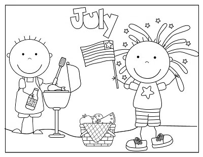 4th of July Coloring and Fun Free Printable • Wise Owl Factory