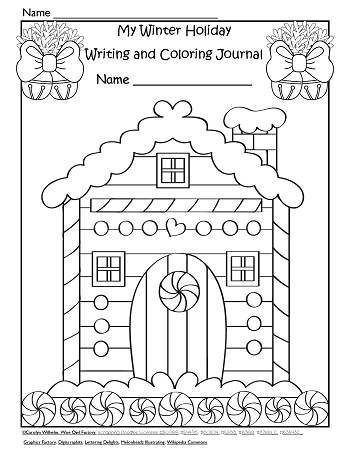 Winter Holiday Writing Frames and Coloring Fun • Wise Owl