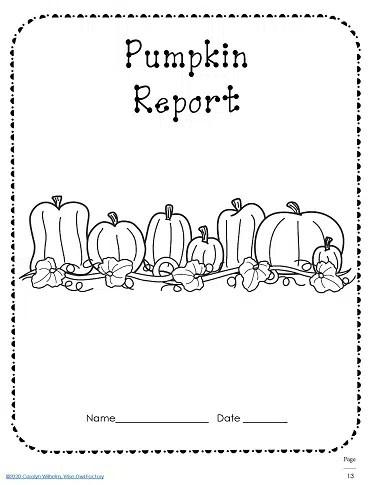 Pumpkin Writing Frames Fiction, Nonfiction, and Rubrics