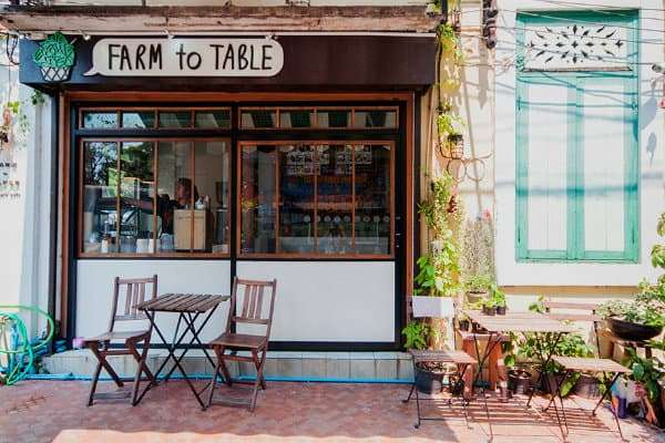 ethical eateries in Bangkok table-to-farm-cafe