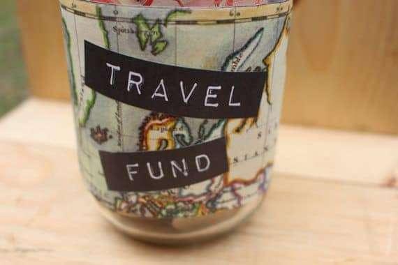 grow your travel fund jar