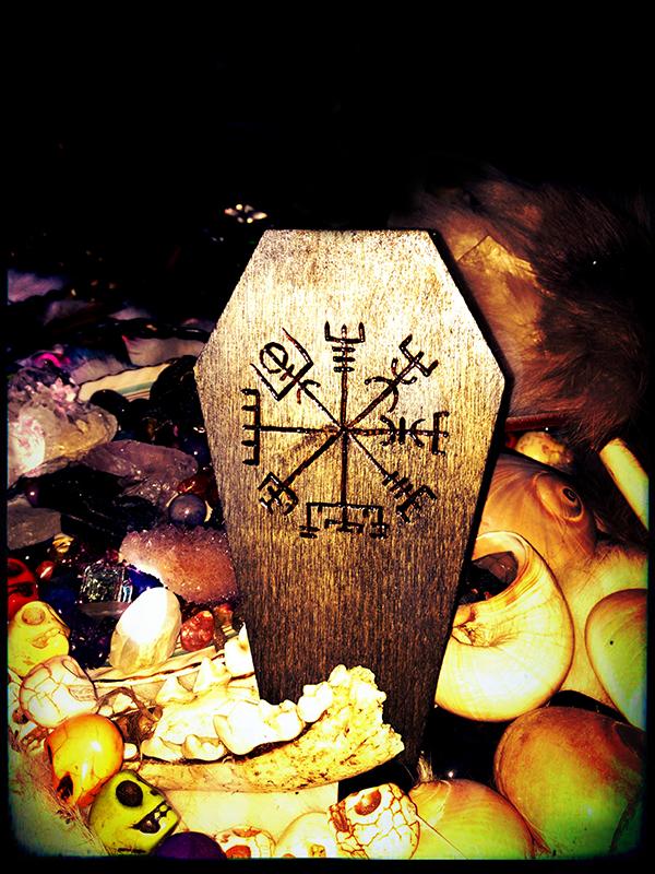 2013 Vegvisir Wood Coffin Box