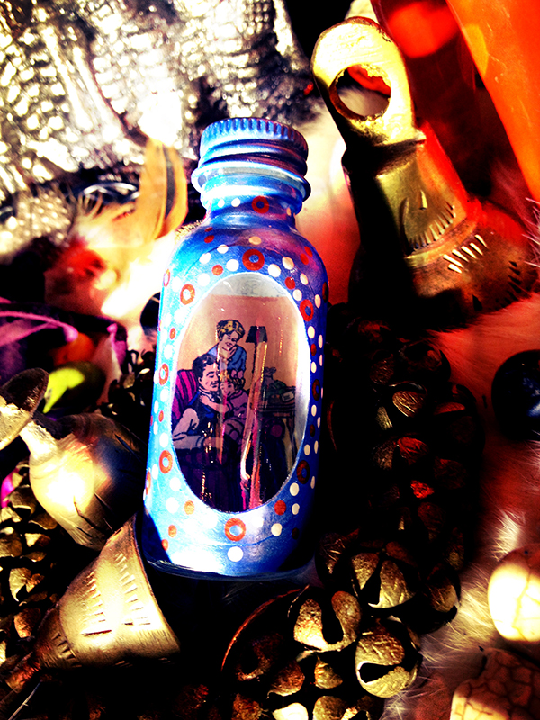 Peaceful home Spell Bottle / Witch Bottle