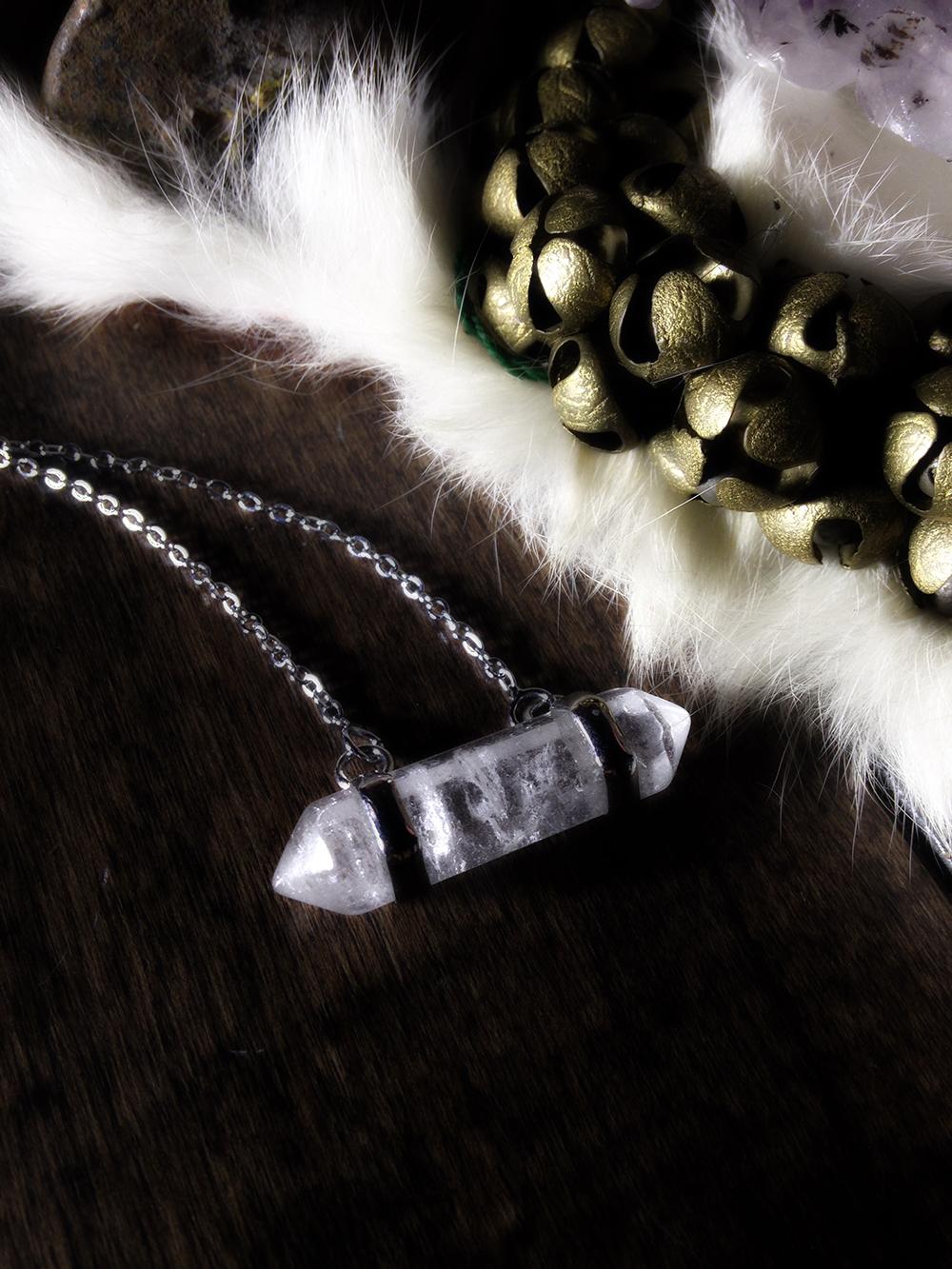 Captured Quartz Necklace