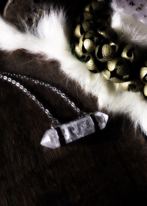 Captured Quartz Necklace
