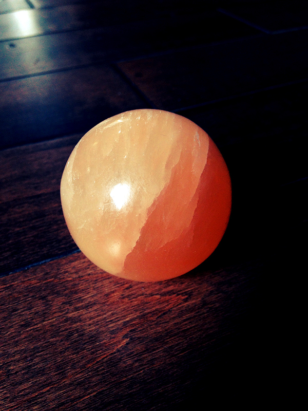 Orange Selenite Sphere