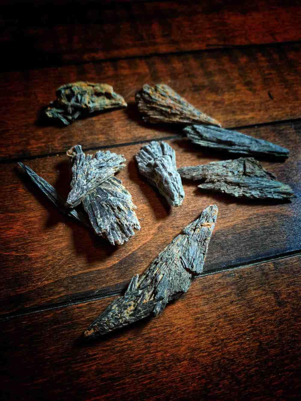 Black Kyanite Witches Broom